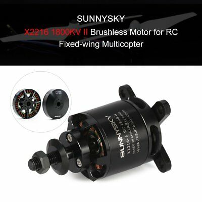 SUNNYSKY X2216 1800KV II 3-4S Brushless Motor for RC Fixed-wing Airplane EC