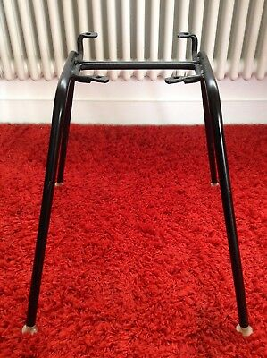 Dining chair base legs only, original, Eames-style, black metal, wide mounts