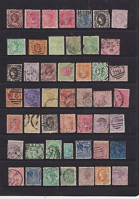 Victoria 1860-00 Colonial Selection Page Lot Fine Used (Gd0  )
