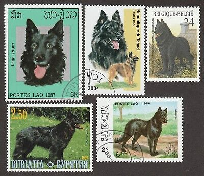 BELGIAN SHEEPDOG GROENENDAEL ** Int'l Dog Stamp Collection ** Great Gift Idea*