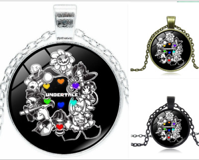 Hot UNDERTALE Cabochon Glass Chain Pendant Necklace Gift
