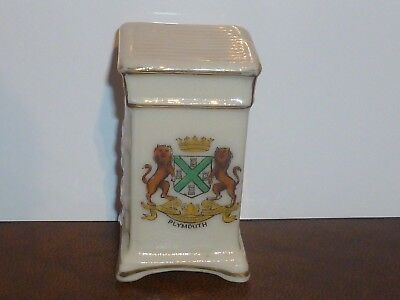Corona Crested China Gas Cooker. Plymouth Crest