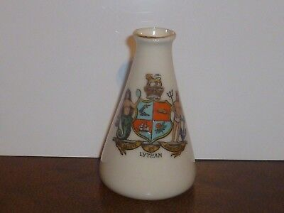 WH GOSS Crested China small Tapered Vase. Crest of Lytham
