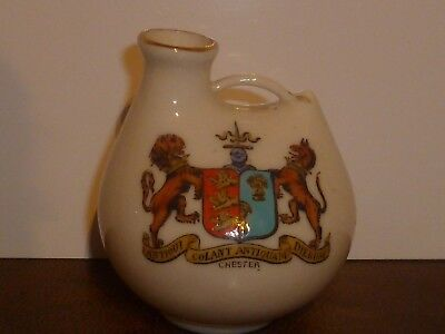 WH GOSS Crested China Model of Chester Vase. Matching Chester Crest