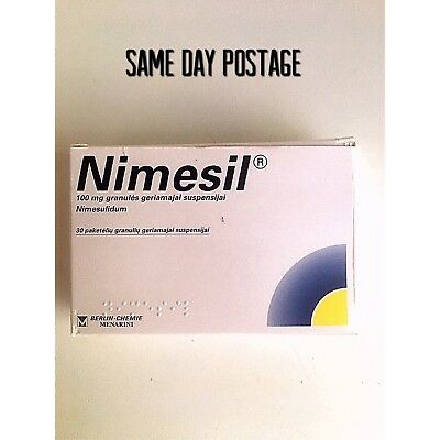 NIMESIL 2g x 20 Sachets Pain relief Toothache Muscle Pain Fast Relief Nimesulide