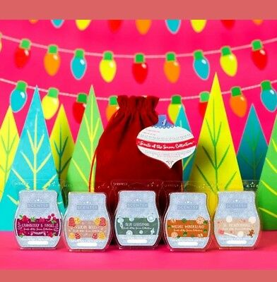 SCENTSY Scents of the Season 2017 Christmas Bundle 5 pack Wax Bars Discontinued