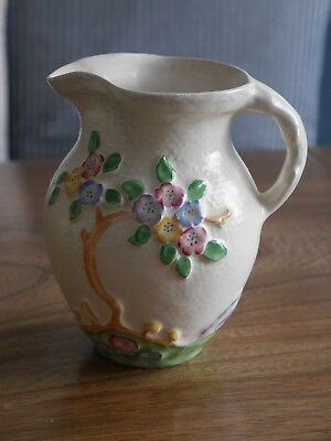 Crown Devon Art Deco Cream Flower Jug