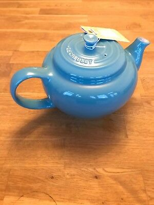Le Creuset teapot stoneware turquoise blue 1L - Brand new with tags