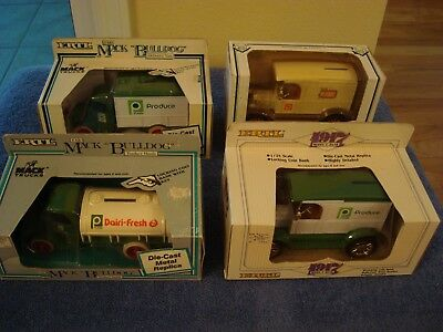 Lot of 4 Publix diecast trucks.NIB See description for details