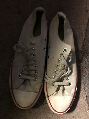 White Vintage Converse All Star Chuck Taylor Low top Sneaker  8.5