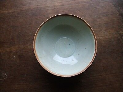 CHINA.  SUNG DYNASTY. 12th/13th CENTURY  BLUEISH GLAZED HIGH SIDED POTTERY BOWL.
