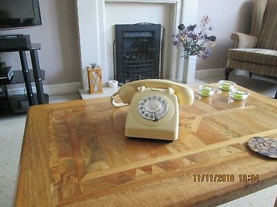1966 Vintage  GPO 706 Ivory Telephone - in perfect working order.