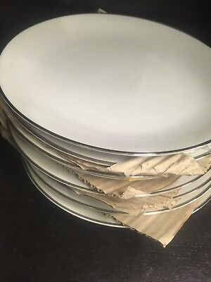 """Set of 8 Rosenthal China 7 1/2"""" Plates EAL Exclusive Eastern Airlines 1st Class"""