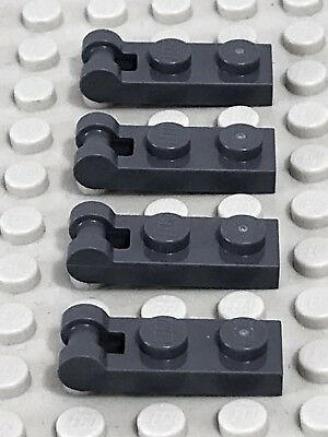 gray 60478 NEUF 4x Plate Modified 1x2 with Handle on End gris f//dark bl Lego