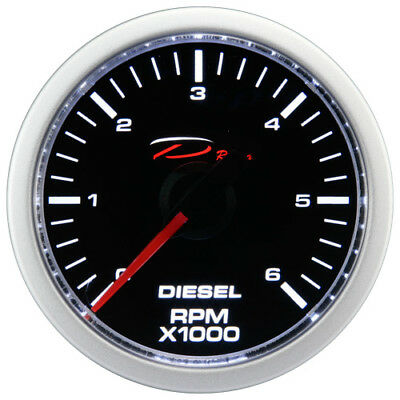 52mm Diesel Tachometer Gauge 0-6000 RPM D Racing On dash Electrical 12V Motor