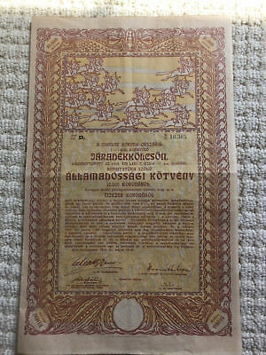 Hungary 1915 10,000 Crowns Bond