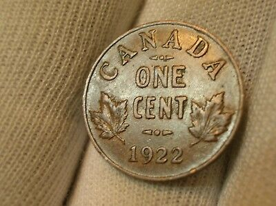 1922 Keydate Canadian Small Cent