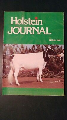 """Holstein Journal 1983 """"charity"""" Cover Story + Ciaq Sire Directory +1982 Auctions"""
