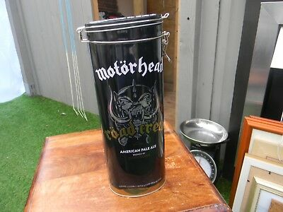 collectable empty motorhead tin slight dent near base