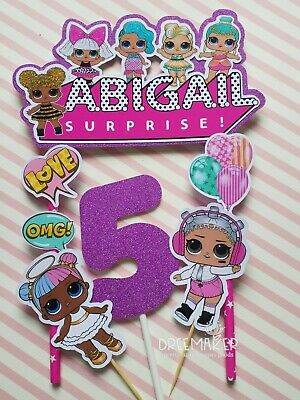 Personalised Lol Surprise Dolls Birthday Cake topper Party Supplies UNOFFICIAL