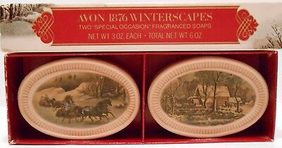 Avon 1876 Winterscapes Box of 2 Special Occasion Fragranced Soaps