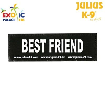 Julius-K9 2 Labels Velcro Patch Best Friend for Harness Dog Idc Belt Power