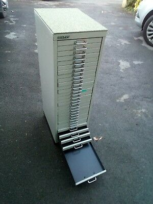 bisley 30 drawer a4 size filing cabinet office workshop hobbie man shed tattoo
