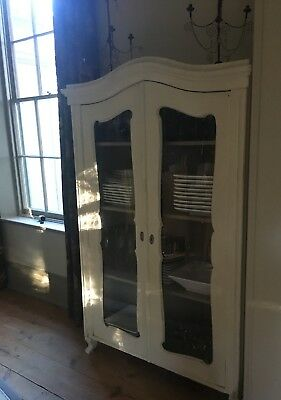 antique vintage glazed cabinet
