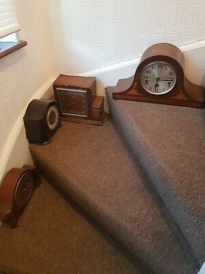 Lot of 4 x Vintage Clocks, good condition for the age,