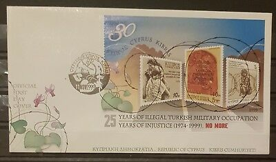[AA19996] Cyprus 25 years Illegal Turkish Occupation 11/11/1999 Official FDC.