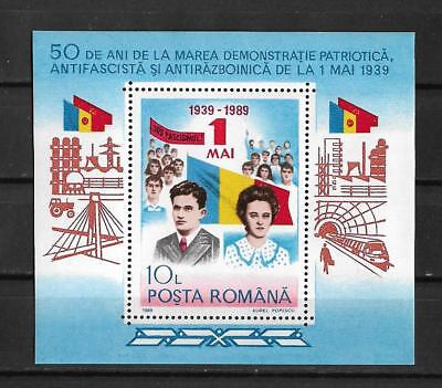 [B1989] Romania 01/05/1989 Mini Sheet Last stamps with Ceausescu MNH.