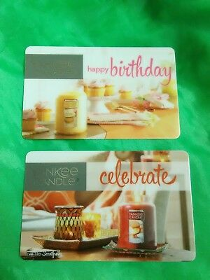 YANKEE CANDLE GIFT CARD  Collectible  NO VALUE  set of 2