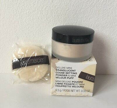 Laura Mercier Translucent Loose Setting Powder with Velour Puff 9.3g Travel Size