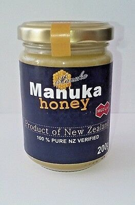 Manuka Manukahonig Manuka Honey Labor LIZENZ MGO 420+ 200g  *100% NZ VERIFIED*