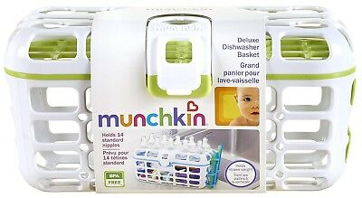 Munchkin DELUXE DISHWASHER BASKET White and Pink NEW
