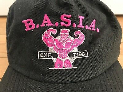 Vintage 90 s Dad Hat Weightlifting Pink Black Grunge Muscle Work Out  Snapback ce1f0d9ab88