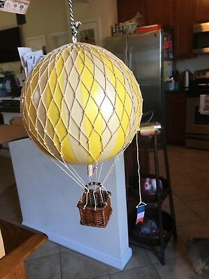 Authentic Models Hot Air Balloon True Yellow AP161Y Mobile 18cm New in Box