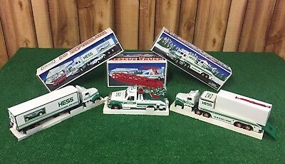 NEW Hess Toy Trucks Lot Of 3..Rescue..Helicopter..Race Car