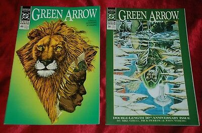Vintage 1991 DC Comics GREEN ARROW Anniversary book set #49 - #50 - 1st prints!