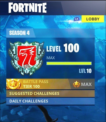Fortnite Tier/XP Boost *PS4 ONLY*