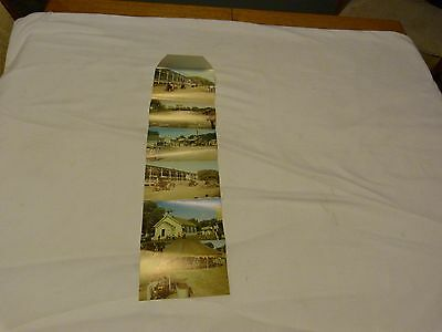 Vintage Fold Out Postcard Midwest Old Settlers And Threshers Mt. Pleasant Iowa