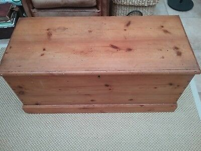 Vintage Stripped Pine Chest, Trunk, Toy, Blanket, Storage Box, Coffee Table,