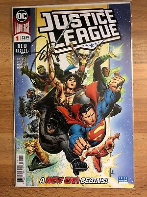 Justice League New Justice #1, 2 Signed By Scott Snyder w/ Coa