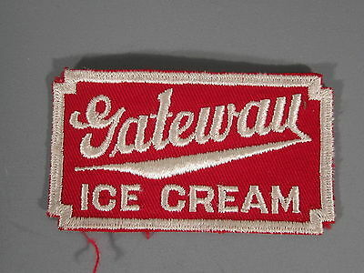 Gateway Ice Cream Patch / New Old Stock of Closed Embroidery Company / FREE Ship