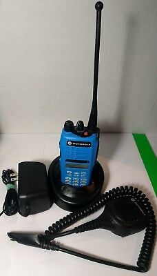 Motorola MTX8250 128Ch 800MHz Police Fire EMS Trunking Radio AAH25UCH6GB6AN BLUE