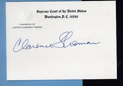 CLARENCE THOMAS Signed Embossed Supreme Court Card - Senior Justice on the Court