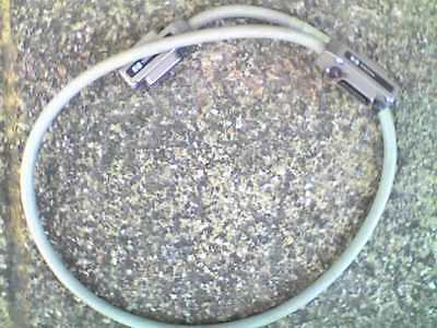 2 x HP 10833A 488GB GPIB IEEE488 Metal Connector 1 Metre Cable - USED   UNTESTED
