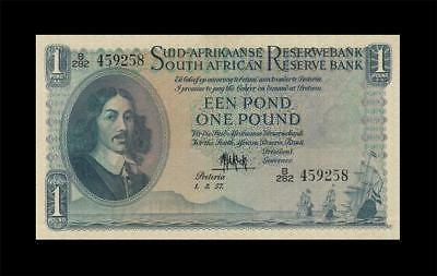 1.3.1957 South Africa 1 Pound **rare** (( Ef+ ))