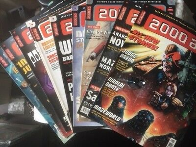 2000Ad Back Progs 1100-1299  Any 2 For £1.00  - All In Ex Condition Judge Dredd