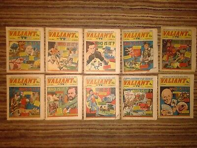 Valiant (& TV21) comic, 'Who is it?' cover series, 10 comic bundle, 1972-74